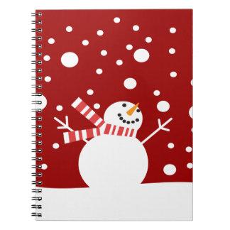 Winter Holiday Snowman Journals