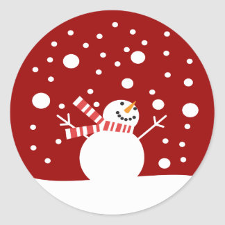 Winter Holiday Snowman Stickers