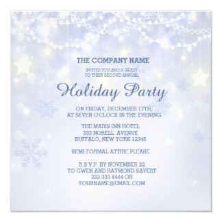 Winter Holiday Sparkle Office Invitations