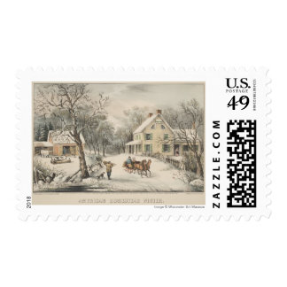 Winter Holiday Stamp
