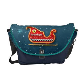 Winter Holiday Story Messenger Bag