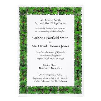 Winter Holiday Wedding Invitation