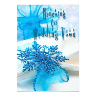 Winter Holiday Wedding Renewing Vows Invitation