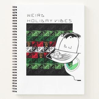 Winter Holiday Weirdness Joy and Jingle Notebook