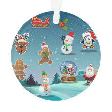 Winter Holidays Cartoon Ornament