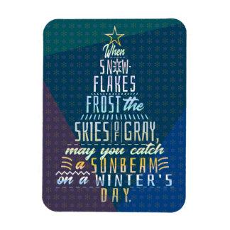 Winter Holidays Christmas Tree Snowflakes Poem Magnet