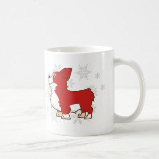 Winter Holidays Corgi Mug