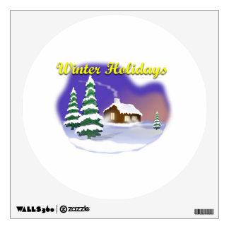 Winter Holidays Room Stickers