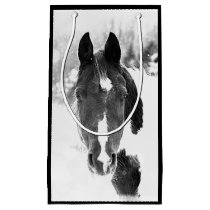 Winter Horse Beautiful Horses Animals Equine Small Gift Bag