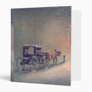 WINTER HORSE & BUGGY by SHARON SHARPE Binder