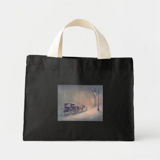 WINTER HORSE & BUGGY  by SHARON SHARPE Mini Tote Bag