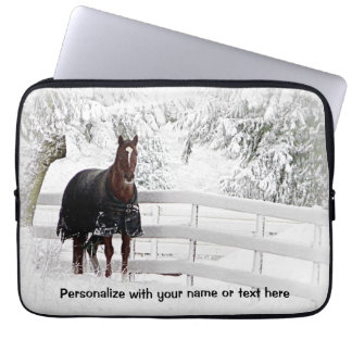 Winter Horse Computer Sleeve