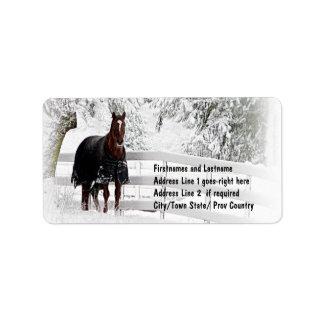 Winter Horse Custom Address Label