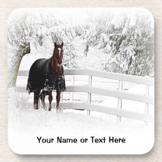 Winter Horse Drink Coaster