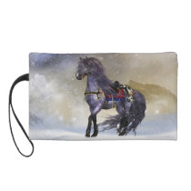 Winter Horse, Equine Fantasy Art Wristlet