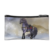 Winter Horse, Equine Fantasy Small Cosmetic Bag