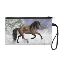Winter Horse - Equine Wristlet Bag