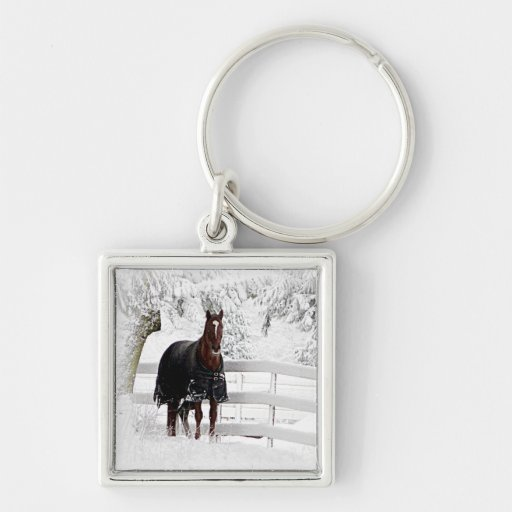 Winter Horse Keychain