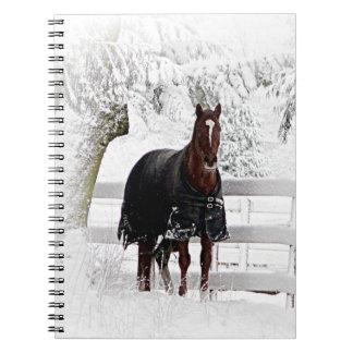 Winter Horse Spiral Notebook