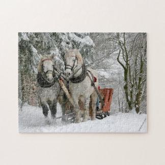 Winter Horses Jigsaw Puzzle