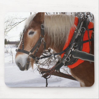 Winter Horses Mouse Pads