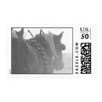 Winter horses postage
