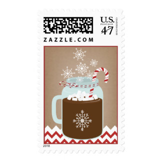 Winter Hot Chocolate In Mason Jar Postage