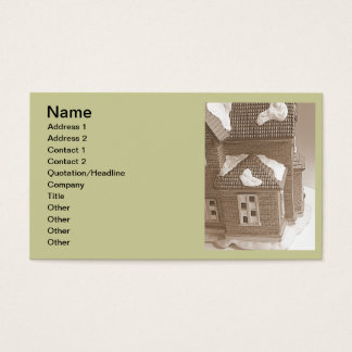 Winter house business card