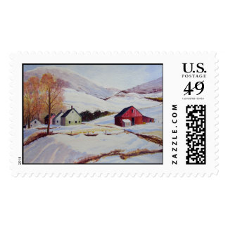 Winter House in the Hills- stamps