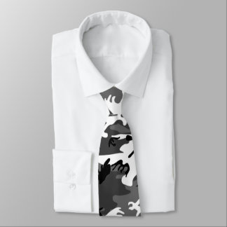 Winter Ice Camo Neck Tie