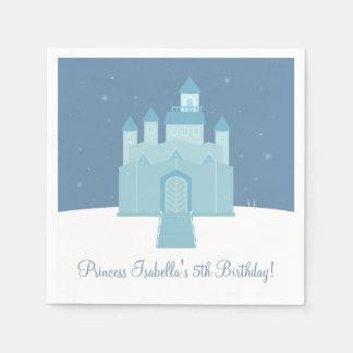 Winter Ice Frozen Palace Princess Birthday Party Paper Napkin