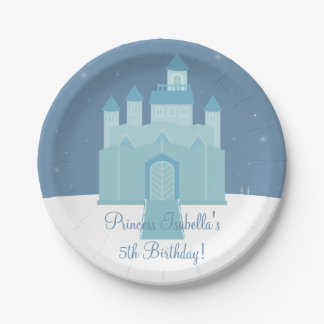 Winter Ice Frozen Palace Princess Birthday Party Paper Plate