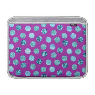 Winter Ice Polka Dots Purple Sleeves For MacBook Air