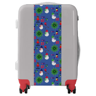Winter Ice Skating Print Luggage