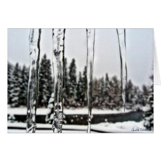 Winter Icicles 2 Card