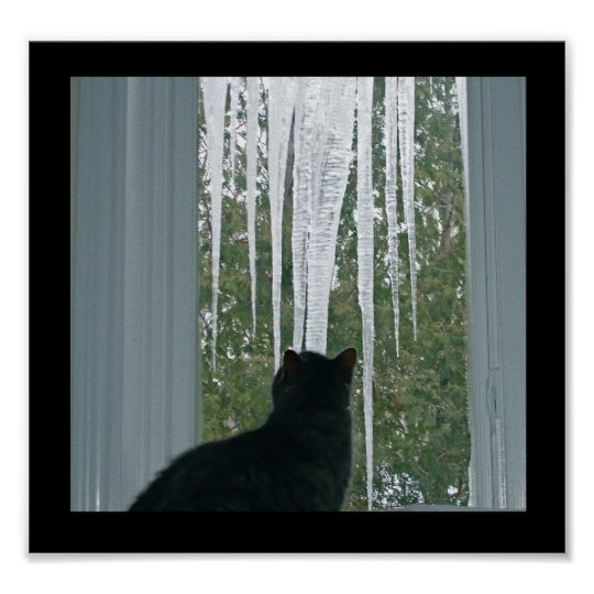 Winter Icicles Poster