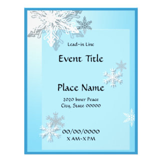 Winter Icy Snowflakes Event Flyer