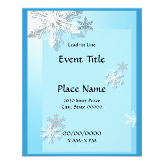 Winter Icy Snowflakes Small Event Flyer