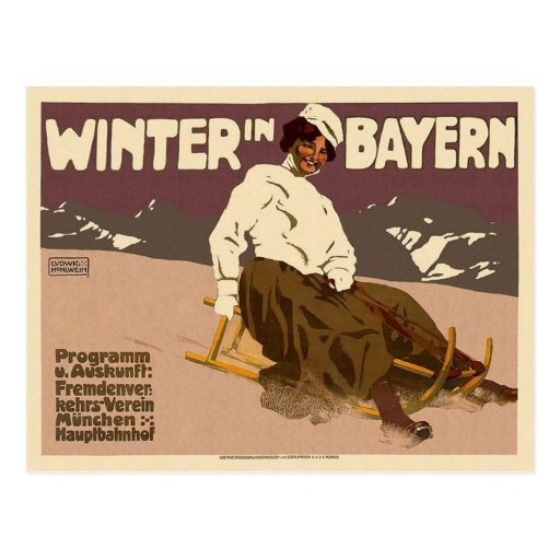 Winter In Bayern Vintage Post Cards