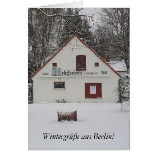 Winter in Berlin Greeting Card