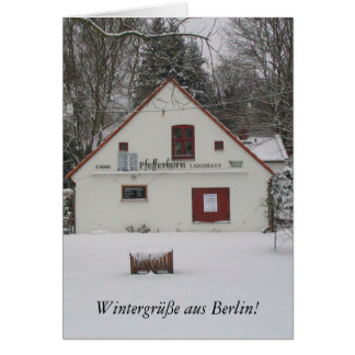 Winter in Berlin Greeting Cards