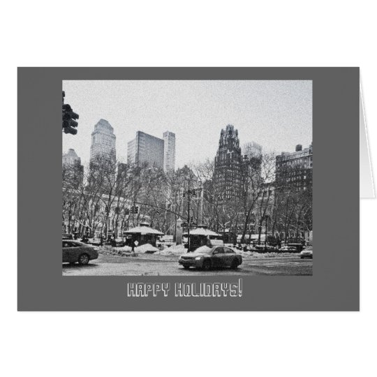 Winter in Bryant Park Photo Holiday Card
