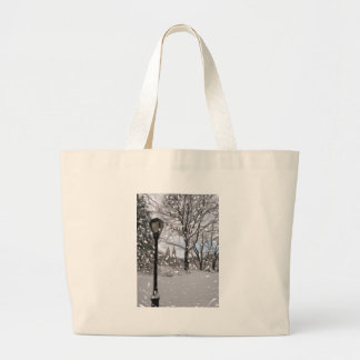 Winter in Central Park1 Large Tote Bag