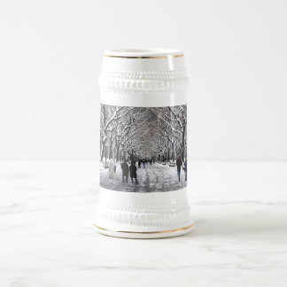 Winter in Central Park NYC 18 Oz Beer Stein