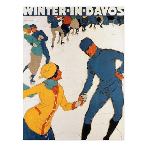 Winter In Davos Postcards