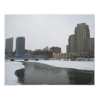 Winter in Downtown Grand Rapids Poster