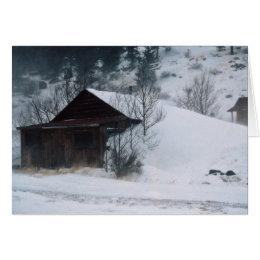 Winter in Eldora Colorado Card