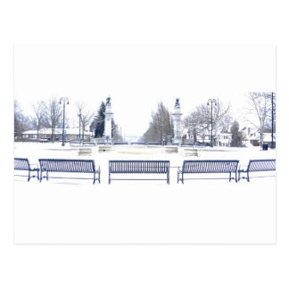 Winter in Highland Park Postcard