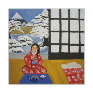 Winter in Japan Canvas Print