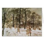 Winter in Kensington Gardens Greeting Card